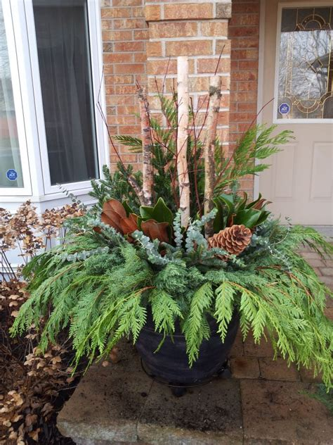 outdoor winter planter ideas best 25 winter ideas on winter centerpieces winter