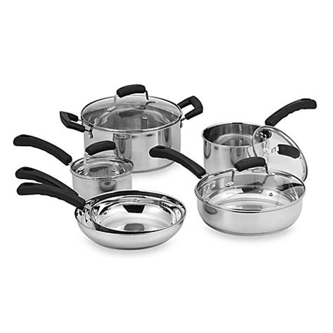 bed bath and beyond pots invitations 174 stainless steel 10 piece cookware set bed