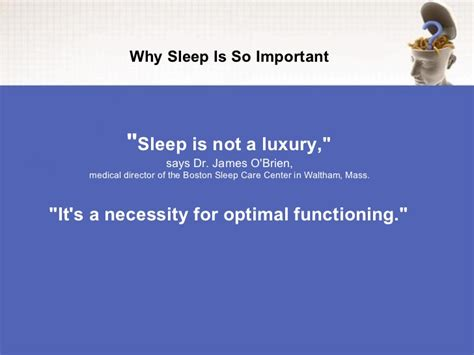 why is it so important why sleep is so important