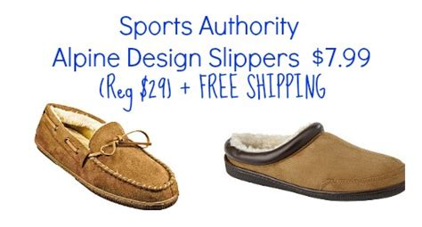 alpine design slippers sports authority alpine design slippers only 7 99 shipped