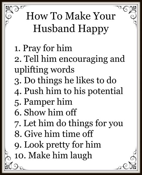10 tips to make your husband happy mydailymom