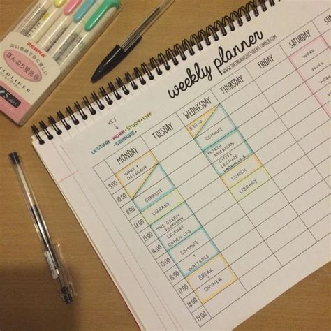 17 best ideas about study schedule on college organization student life and college