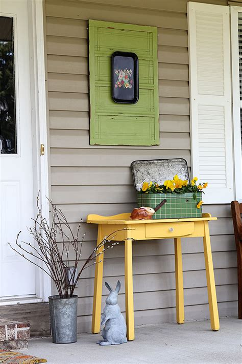 spring porch decorating ideas colorful spring front porch house of hawthornes