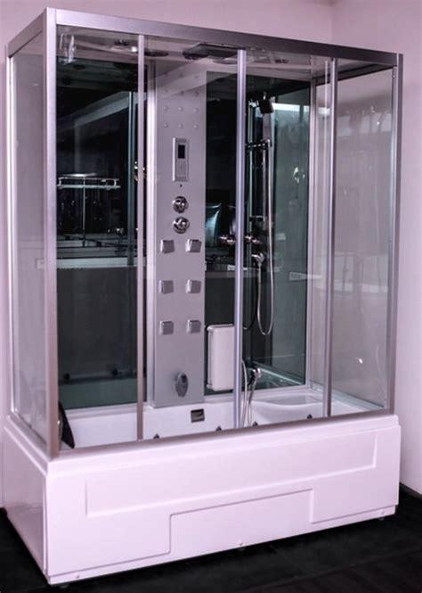 vasca cabinata box doccia idromassaggio atena con bagno turco 170 x 80