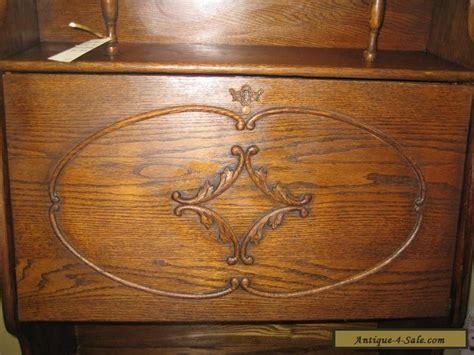 antique drop front desk for sale antique oak drop front desk larkin style ec for
