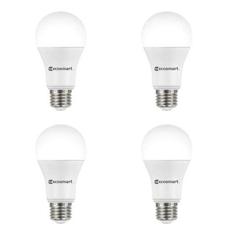 ecosmart 100 light led warm white m5 light set ecosmart 100 watt equivalent a19 non dimmable basic led light bulb soft white 4 pack