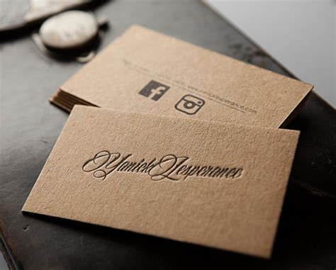 Craft Paper Business Cards - unavailable listing on etsy