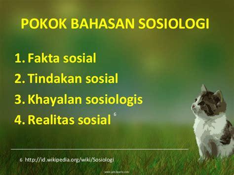Pengantar Sosiologi Pemahaman Fakta Dan Gejala Permasalahan Sosial Te sosiologi sastra