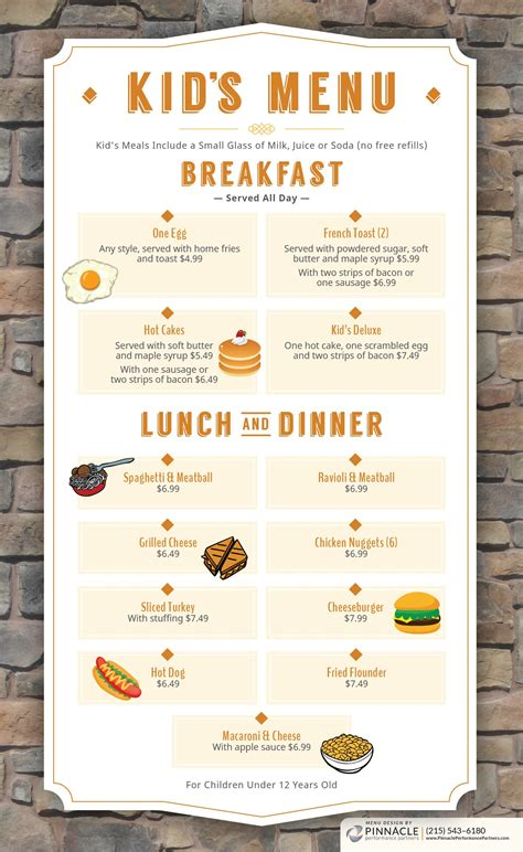 breakfast lunch and dinner menu template menu penrose diner