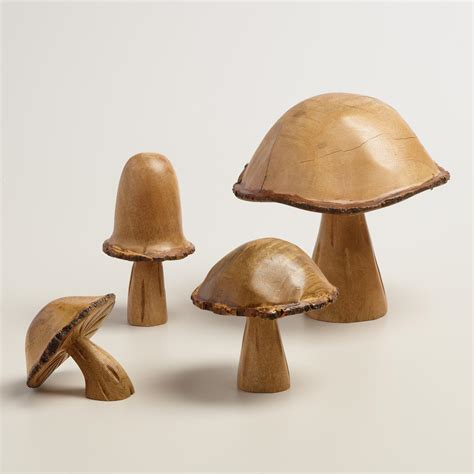mushroom home decor carved wood mushroom decor world market