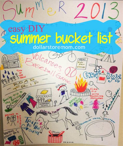 summer diy projects for college students make a summer list poster 187 dollar store crafts