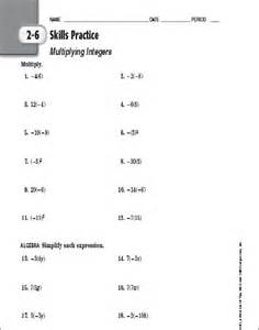 6th grade math integers worksheets abitlikethis