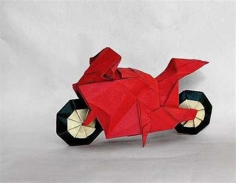 Origami Bike - ornament origami paper race bike origami