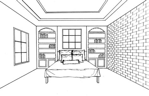 perspective drawing of bedroom fall 2013 kyra vrabel portfolio