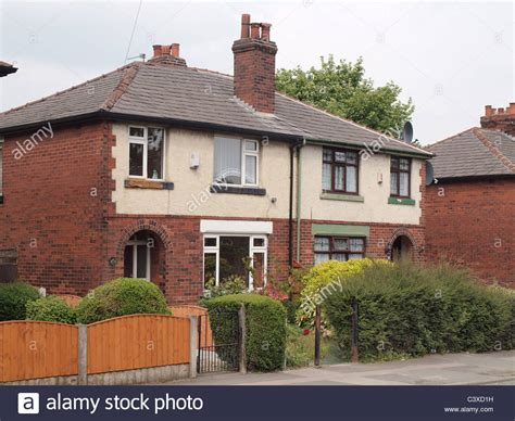 buying a 1930s house semi detached 1930s house in farnworth part of the flower estate stock photo royalty