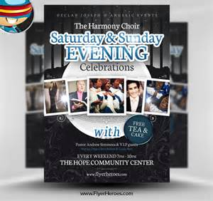 Free Church Templates For Flyers by Evening Celebrations Church Psd Flyer Template By