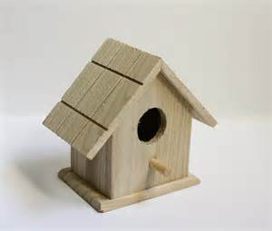 Diy wooden bird house unpainted wood birdhouse feeder