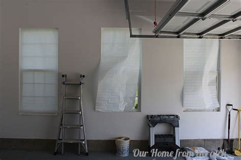 garage window curtains our home from scratch