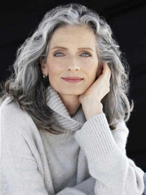 great long hair style for a 60 year old 15 inspirations of long hairstyles for gray hair