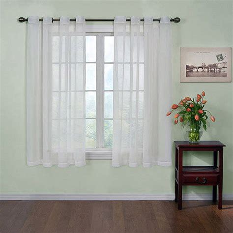 walmart sheer curtain panels curtain fresh odor neutralizing sheer voile grommet