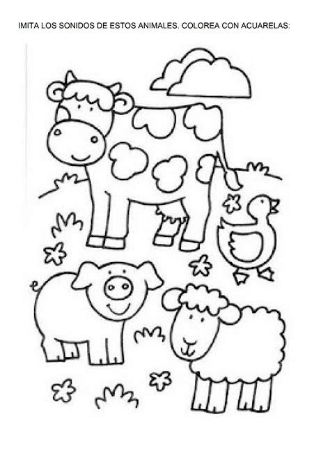 imagenes para colorear animales de la granja la granja dibujos para colorear