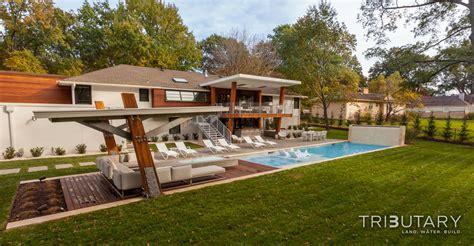 modern mid century modern geometric mid century modern tributary pools spas