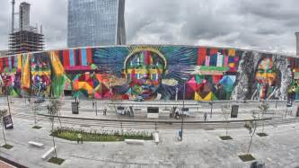Wall Mural Graffiti ethnicities by eduardo kobra