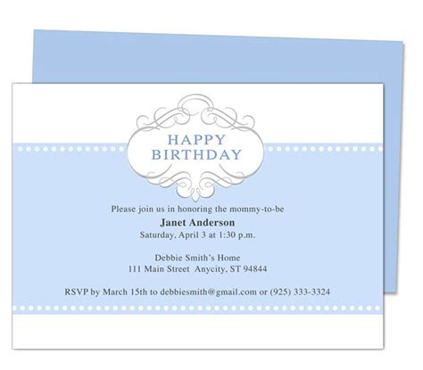 birthday invitations templates free for word 13 best images about printable 1st birthday