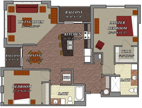 2 bedroom 2 bathroom style d2 lilly preserve apartments