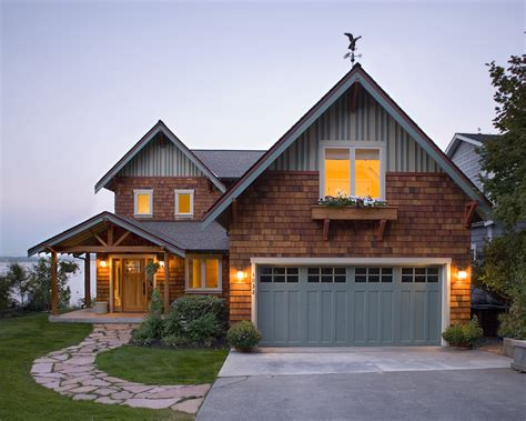craftsman style garage doors exterior rustic with entry