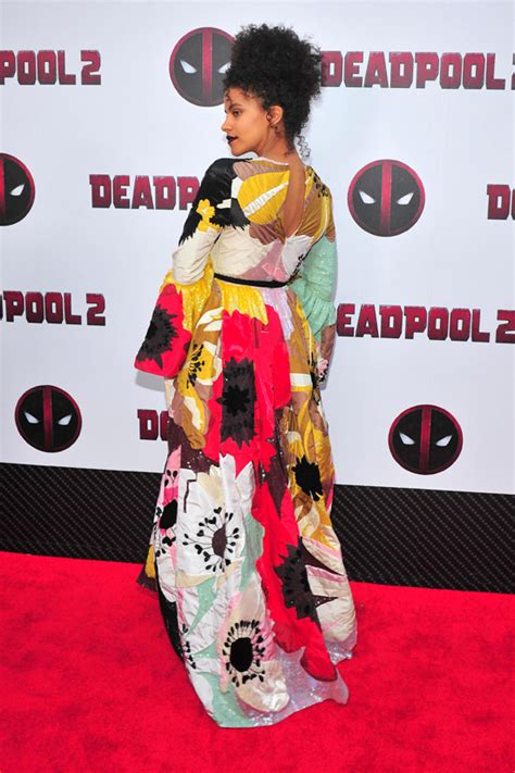 deadpool 2 carpet premiere zazie beetz in valentino at the quot deadpool 2 quot new york