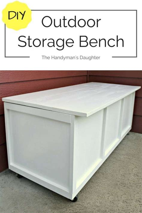 how to make a storage bench diy outdoor storage bench take two the handyman s daughter