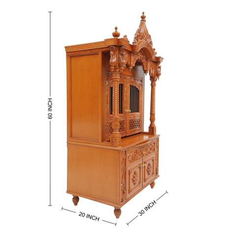 traditional mandir design handcrafted in wood for home