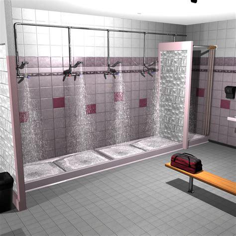 School Shower by School Locker With Showers 3d Models 3d Figure Assets