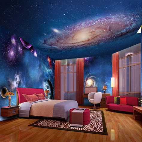 night stars bedroom l wallpaper 3d stereoscopic star nebula night sky ceiling