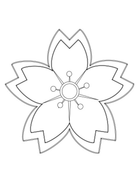 printable little flowers flower coloring pages