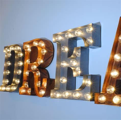 Word Lights by Uk Illuminated Carnival Vintage Letter Lights