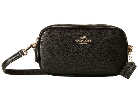 Coach Pouch coach polished pebble crossbody pouch zappos free