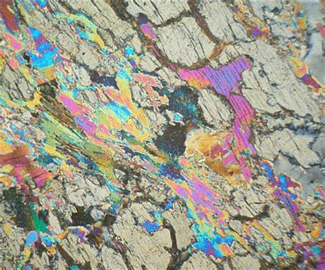 mica in thin section andalusite mica schist sweden thin section microscope