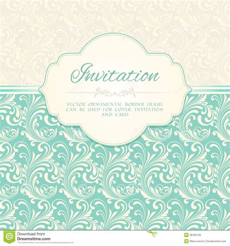 pattern card stock ornamental pattern invitation card stock vector