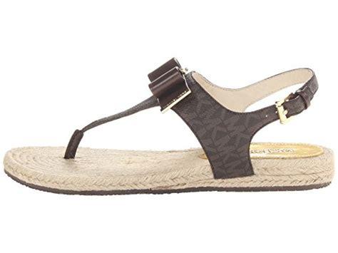 michael kors meg sandals michael michael kors meg signature sandals in brown