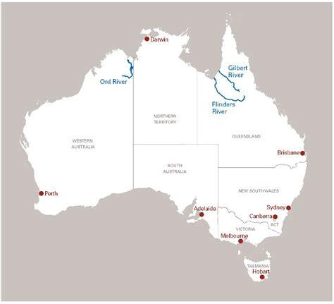 australia river map australia river map