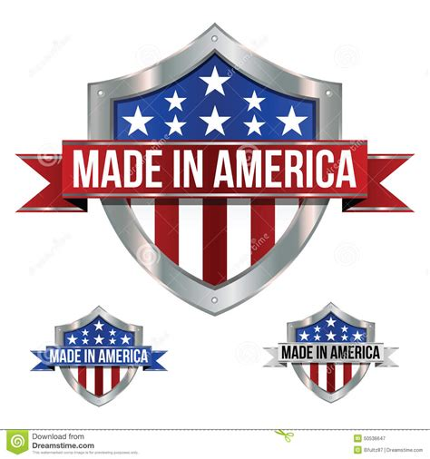 made in america an made in america icons stock vector image 50536647