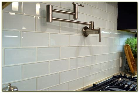 clear glass subway tile backsplash tiles home