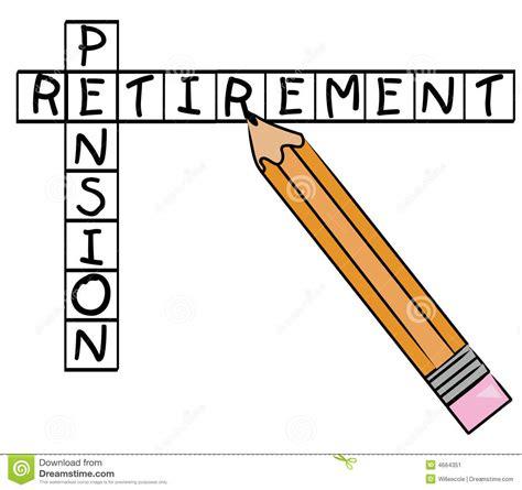 printable retirement puzzles retirement pension crossword stock vector image 4664351