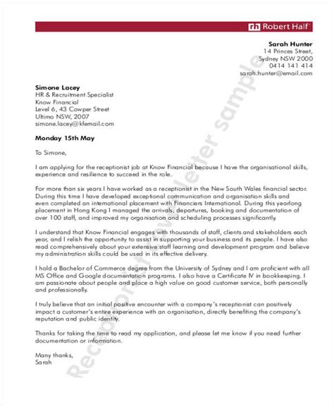 front office cover letter sle cover letter for sle pdf 28 images resume book mit