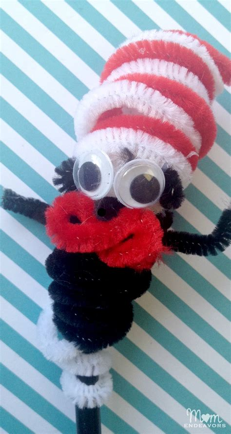 cat in the hat pencil topper finger puppet fun family crafts