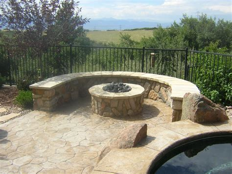 gas fire pit seating wall and sted concrete daniels park co pool and spa experts pool