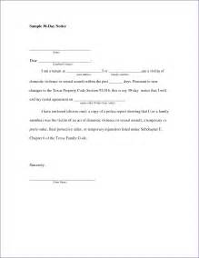 30 day move out notice template 30 day move out notice slenotary