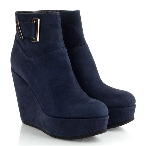daniel navy daru s wedge ankle boot
